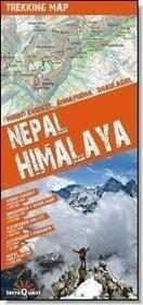 ExpressMap Himalaje nepalskie Mount Everest, Annapurna, Dhalulagiri. Mapa trekkingowa - Expressmap