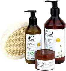 Phytorelax Bio zestaw żel do kąpieli 500ml + balsam do ciała 250ml + krem do twarzy 50ml