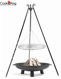 Cookking Grill ogrodowy COOK KING Stal Czarna 50cm + Palenisko 60cm