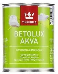 Tikkurila BETOLUX AKVA- farba do drewnianych i betonowych podłóg, baza A, 0.9 l