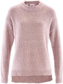 Bonprix Sweter boucle pastelowy jasnoróżowy melanż