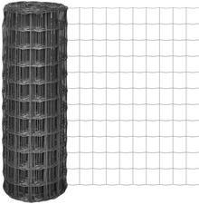 vidaxl Euro ogrodzenie 10 x 1,96 m; siatka stalowa, szare