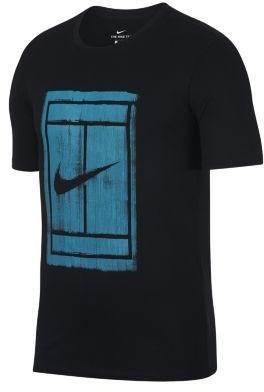 92f41c2d Nike Męski T-shirt do tenisa NikeCourt - Czerń 913501-010 – ceny ...