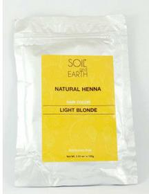 SOIL AND EARTH Naturalna Henna do włosów Indyjska JASNY BLOND 100g Soil &Earth 8906054671079