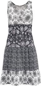Bonprix Sukienka szaro-czarny wzorzysty