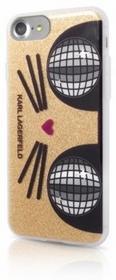 Karl Lagerfeld Etui hard do iPhone 7 KLHCP7KKO3DCHG złote BRA004907