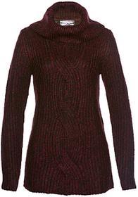 Bonprix Sweter czerwony klonowy melanż