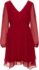 Bonprix Sukienka szyfonowa pomarańczowo-czerwony