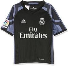 Adidas koszulka piłkarska z logo Real Madryt, dziecięca, wersja: trzeci komplet, czarny AI5143