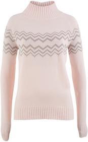 Bonprix Sweter perłowy jasnoróżowy - biel wełny