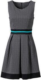 Bonprix Sukienka w groszki czarno-biały w groszki