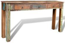 vidaXL Drewniane biurko z 3 szufladami