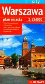 Demart Warszawa. Plan miasta w skali 1:26 000 LIT-8978