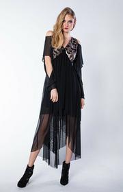 Asymetryczna sukienka z cekinami JERRY