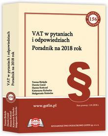 Goral Dorota, Bielęda Teresa, Kończal Hanna, Rybac VAT w pytaniach i odpowiedziach. Poradnik na 2018 rok - dostępny od ręki, natychmiastowa wysyłka