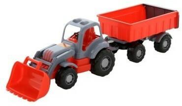 WADER-POLESIE Siłacz Traktor z przyczepą i łyżką