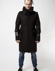 moxos Płaszcz - hoodie czarny