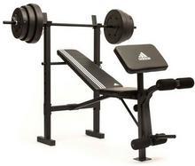 Adidas Ławka treningowa ze sztangą 45 kg ADBE-10349 ADBE-10349