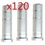 Łucznictwo 60 sztuk 120 sztuk aluminium strzałka wkładka do polowania strzały groty strzał ID 0.244