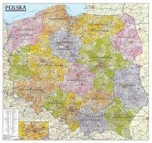 ExpressMap praca zbiorowa Polska. Mapa administracyjno-samochodowa, ścienna, oprawiona w listwy 1:570 000