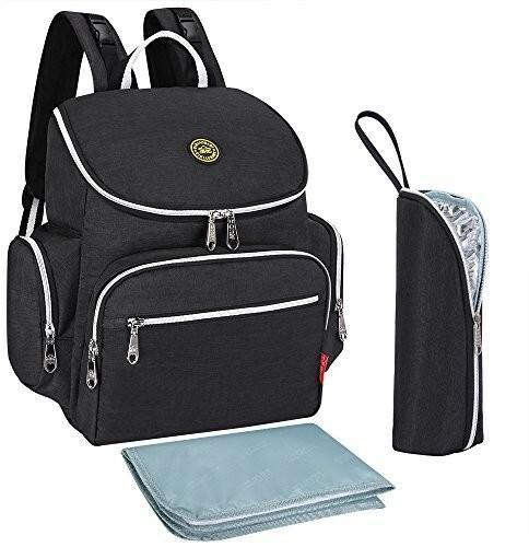 S-ZONE S-Zone wielofunkcyjna torba Baby torba na pieluchy worek plecak z nakładką rodzaje ścieżek i poruszających się kompaktowy  D04V846A