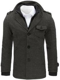 Dstreet Płaszcz męski w jodełkę szary (cx0366) cx0366_m