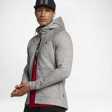 Nike Męska rozpinana bluza z kapturem Jordan Sportswear Wings Fleece - Szary 860196-063
