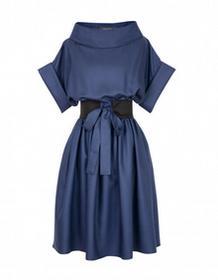 Kasia Zapała Sukienka Audrey ciemnoniebieska