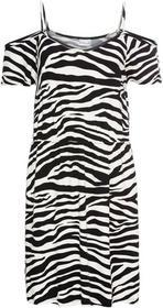 Bonprix Sukienka z dżerseju z wycięciami Zebra