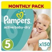 Pampers Active Baby-Dry 5 Junior 150 szt.