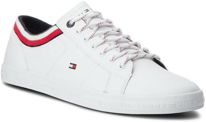 cd377051da083 Tommy Hilfiger Sneakersy Essential Leathermix Low Sneaker FM0FM01632 White  100 - Ceny i opinie na Skapiec.pl