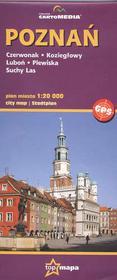 CartoMedia Poznań plan miasta mapa 1:20 000 CartoMedia