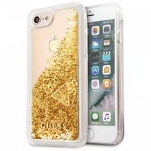 Guess Liquid Glitter - Etui iPhone 8 / 7 (złoty) GUHCP7GLUFLGO
