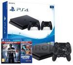 Sony PlayStation 4 Slim 1TB + 2 pady + kolekcja Uncharted + Uncharted 4 Kres Złodzieja