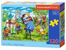 Castorland Puzzle 120 elementów. Królewna Śnieżka - szczęśliwe zakończenie