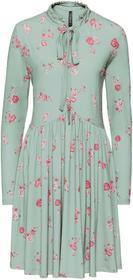 Bonprix Sukienka shirtowa z kwiatowym nadrukiem: must have oliwkowy w kwiaty