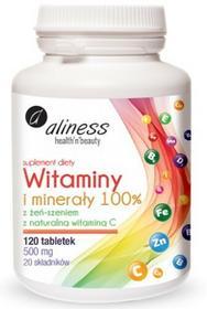 Aliness Witaminy i Minerały 100%, 120 tab.