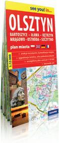 ExpressMap praca zbiorowa see you! in Olsztyn, Bartoszyce, Iława, Kętrzyn, Mrągowo, Ostróda, Szczytno. Papierowy plan miasta 1: 15 000