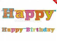 Party Tino Girlanda Happy Birthday 16X166Cm, PARTY TINO