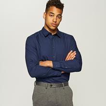 RESERVED Gładka koszula - Granatowy