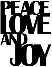 DekoSign Napis Na Ścianę Peace Love And Joy Czarny 50,0x39,0/Napis/GAT 1 PLAJ1-1