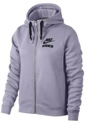 ea23860558c Nike Damska bluza z kapturem i zamkiem na całej długości Air Rally - Fiolet  893064-