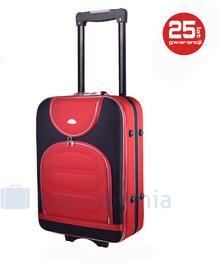 PELLUCCI Mała kabinowa walizka PELLUCCI 801 S - Czarny / Czerwony - czarny / czerwony