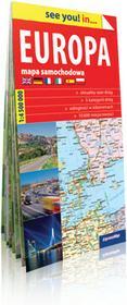 ExpressMap praca zbiorowa see you! in Europa. Papierowa mapa samochodowa 1:4 500 000