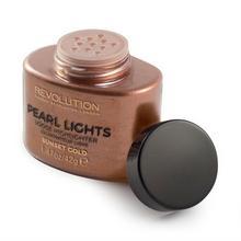 Revolution Makeup MAKE UP Revolution Pearl Lights Loose Highlighter Puder sypki rozświetlający Sunset Gold 25g