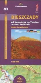 Cartomedia Bieszczady od Komańczy po Tarnicę, Jezioro Solińskie Mapa turystyczna 1: 50 000 - CartoMedia
