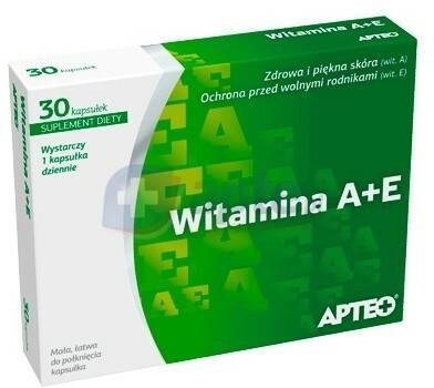 Synoptis Pharma Sp. z o.o. Witamina A+E APTEO x30 kapsułek