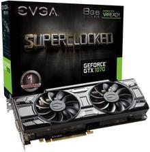 EVGA GeForce gtx1070SC PCIe 3.0, 08G-P45173-KR