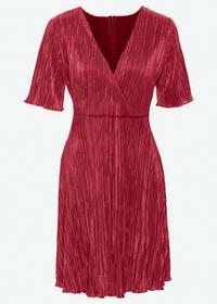 Bonprix Sukienka plisowana bordowy