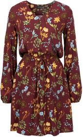 Bonprix Sukienka z nadrukiem czerwony klonowy z nadrukiem